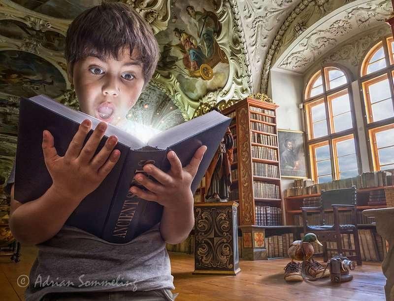 Волшебные миры детства Эдриана Соммелинга