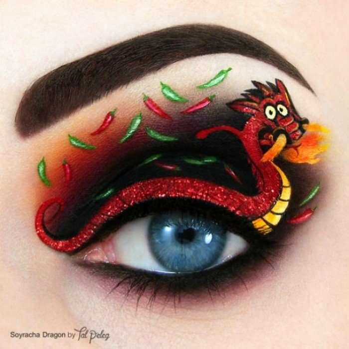 Удивительный makeup — художница рисует на глазах сказки и картины