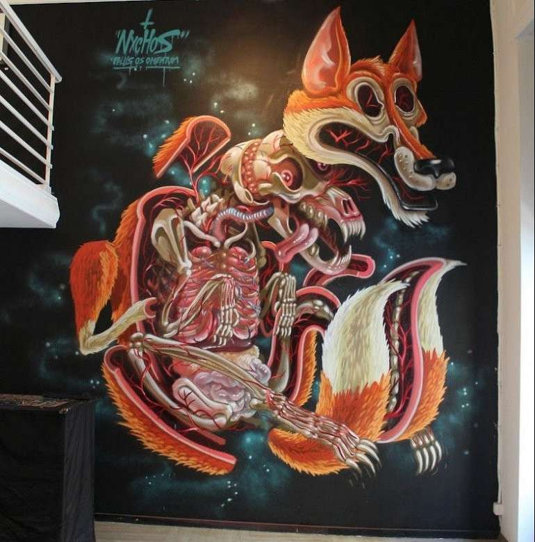 Анатомия уличного искусства от художника Nychos