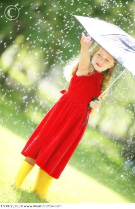 Дети под дождем