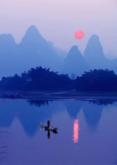Живописные пейзажи долины реки Ли (Китай)