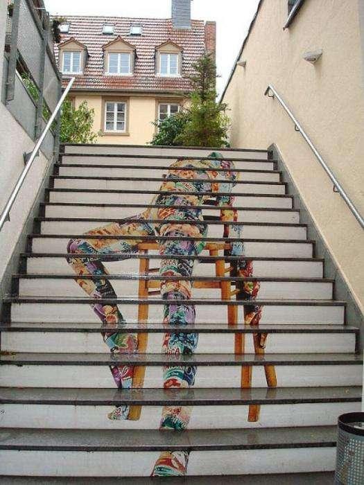 Лестничный стрит- арт