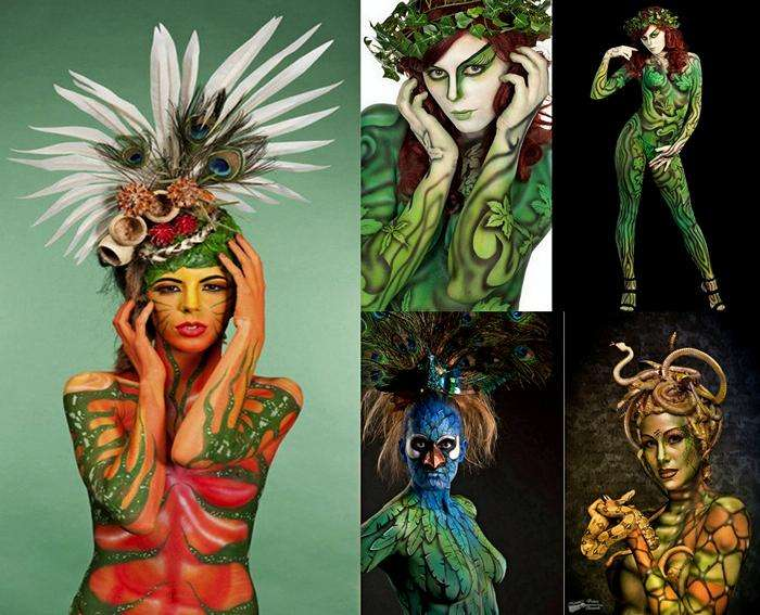 Невероятный боди-арт Нади Хлучовски