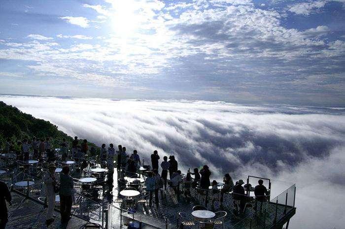 Волшебное место над облаками Терраса Ункай