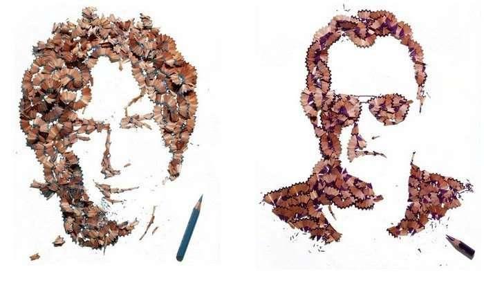 Произведения искусства из карандашей и мелков