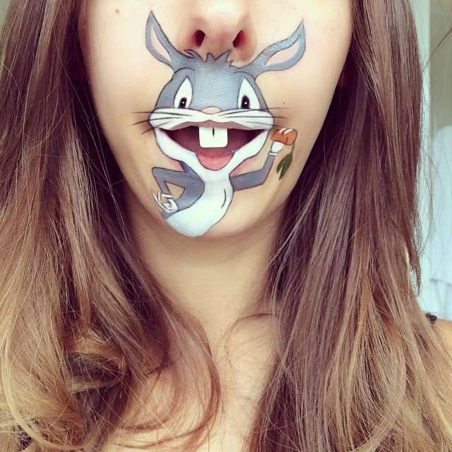 Мультяшный рот, или как развлечься визажисту